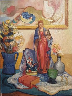 Madonna (Paris, 1936), peinture à l'huile, 70x50 cm