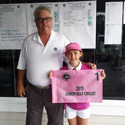 PGA Pro Tommy Smith and Lauren after Lauren won the 2015 VSGA Chantilly event.
