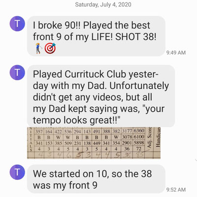Tim, a TPI instructor, played his best 9 ever after just 3 lessons with Mike.