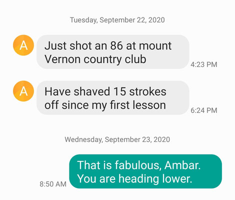 A 15 shot improvement for Ambar. Great going. Going lower.