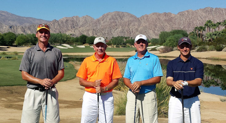 PGA Pro Justin Keith, Tennis Pro John McDaniel, Jeff Wilkie and Mike V- Palm Desert 2013