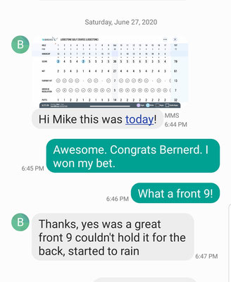 Bernerd, a 55 year old energy executive, was a 115 player in May 2019 when he first visited Mike. 13 months later, he breaks 80 at Lodestone CC in western Maryland.
