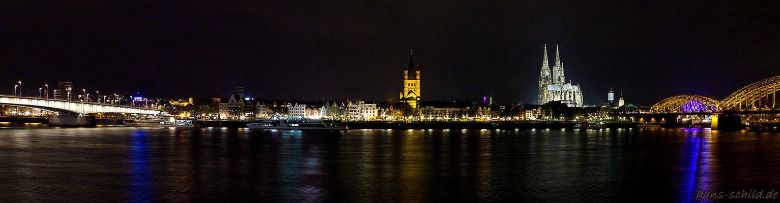 Köln am Rhein ist bunt