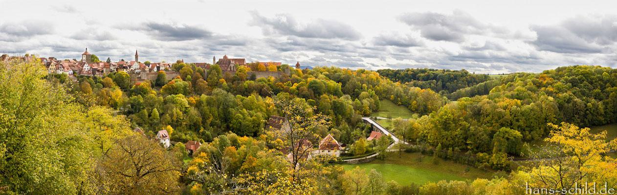 herbstlicher Farbenrausch, Rothenburg ob der Tauber