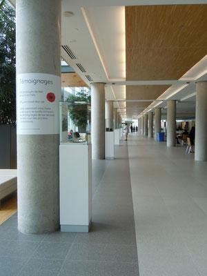 Vue d'ensemble de la salle d'exposition