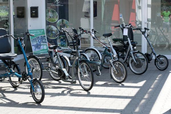 Dreiräder im Dreirad-Zentrum Bremen probefahren