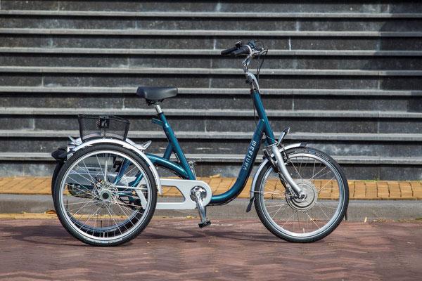 leichter Einstieg beim Van Raam Maxi Dreirad