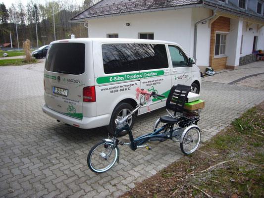 Dreirad Auslieferung in München