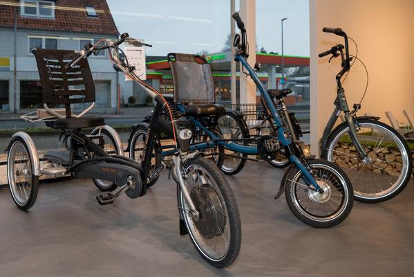 Dreiräder von Pfau-Tec im Dreirad-Zentrum Schleswig