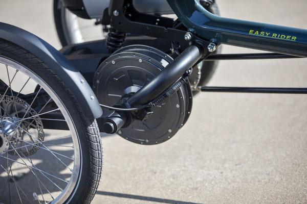 Easy Rider 3 Motor nun an der Hinterradachse