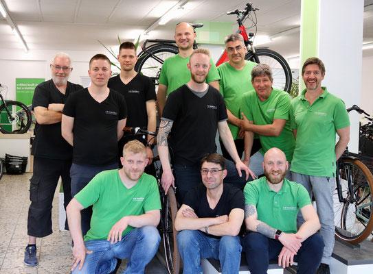Das Team vom Dreirad Zentrum in Berlin-Steglitz