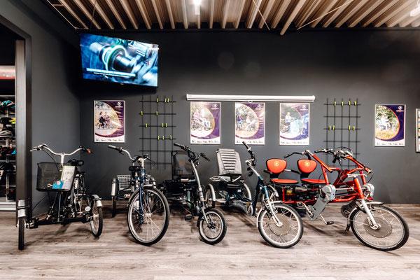 Dreiräder im e-motion Dreirad-Zentrum Harz