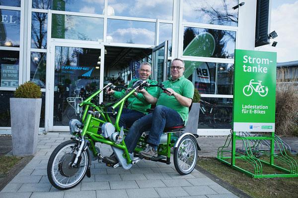 Dreiräder im Dreirad-Zentrum Düsseldorf probefahren