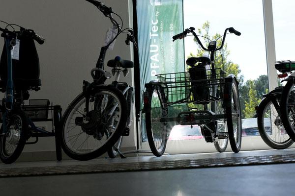 Dreirad oder Elektrodreirad für Erwachsene im Dreirad-Zentrum Bremen probefahren, testen und kaufen