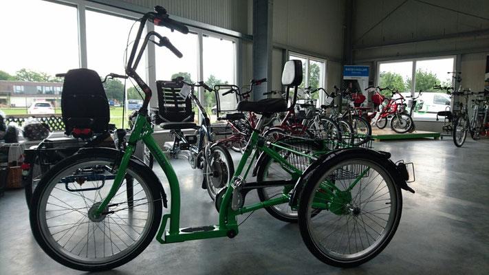 Dreiräder im Dreirad-Zentrum Bad-Zwischenahn