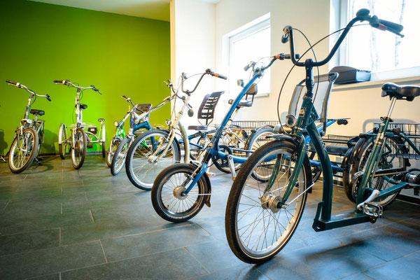 Pfau-Tec Dreiräder im e-motion Dreirad-Zentrum Hamburg