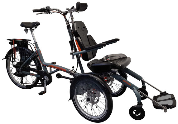 Van Raam O-Pair Rollstuhlrad - Dreirad zum Transport von Behinderten und Senioren