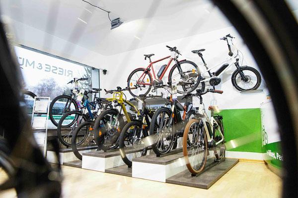 Dreiräder im e-motion Dreirad-Zentrum Köln