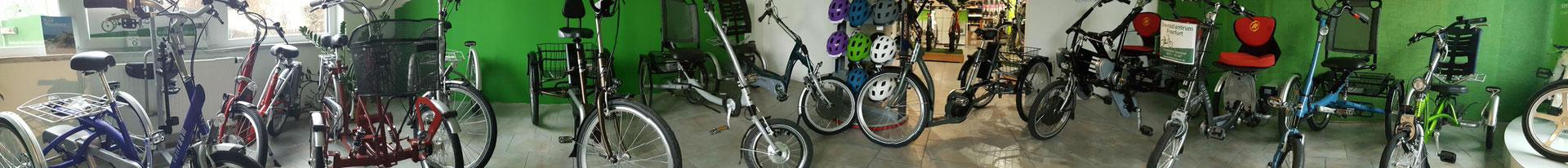 Elektro-Dreiräder für Erwachsene probefahren, testen und kaufen im Dreirad-Zentrum Gießen