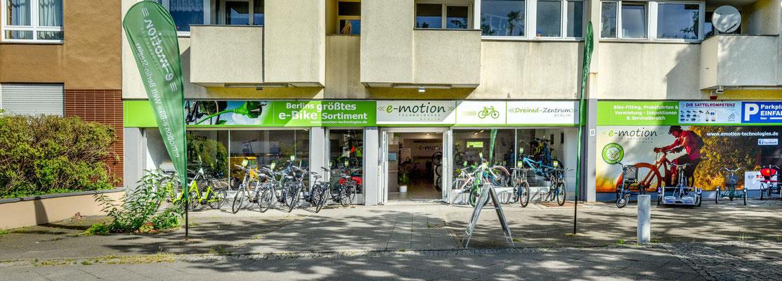 Dreiräder im Dreirad-Zentrum Berlin probefahren