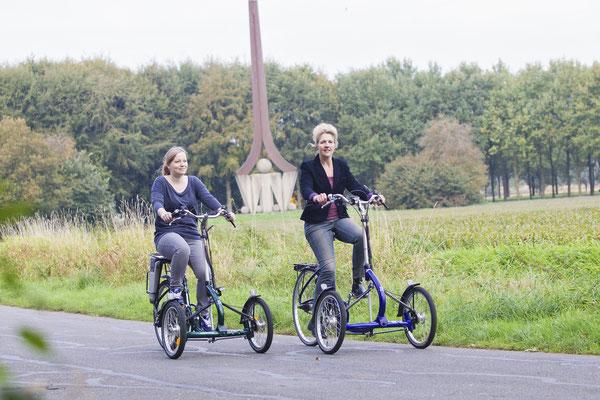Ausflüge zu zweit mit dem Viktor Elektro-Dreirad von Van Raam