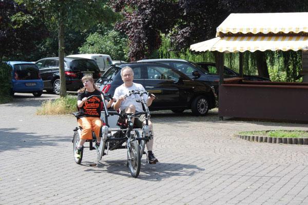 Wieder mobil dank Tandem-Dreirad Fun2Go