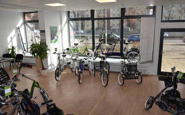 Dreirad Markenvielfalt im Dreirad-Zentrum Berlin