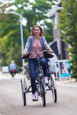 Leichtes Fahren ohne Unsicherheiten mit dem Van Raam Maxi Dreirad
