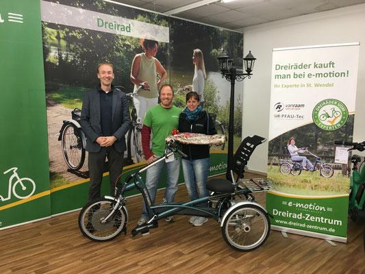 Besuch von van Raam im Dreirad-Zentrum Sankt Wendel