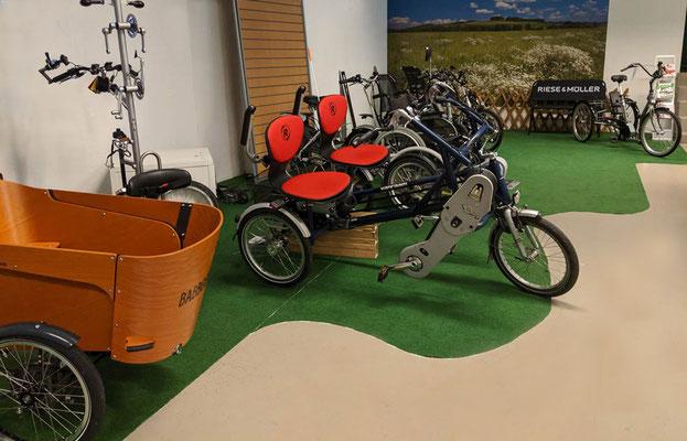 Dreirad Markenvielfalt im Dreirad-Zentrum Göppingen