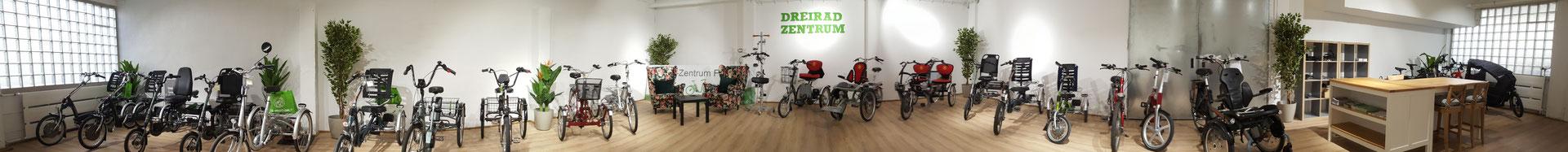 kostenlose Dreirad Probefahrten und kompetente Experten Beratung im Dreirad-Zentrum Frankfurt
