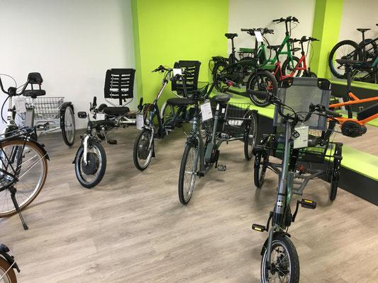 Dreiräder im Dreirad-Zentrum Münster