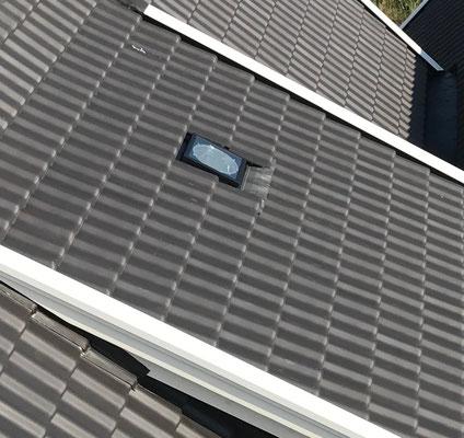 Der Tageslichtspot von Außen im Dach