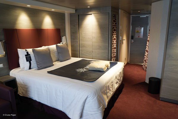 Wohnbereich mit Doppelbett & Sofabett (nicht im Bild zu sehen)