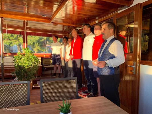 Abschied & Organisiesatorisches am letzten Abend an Bord der MS Dalmatia