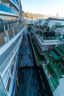 AIDAnova bei der LNG-Betankung |© AIDA Cruises