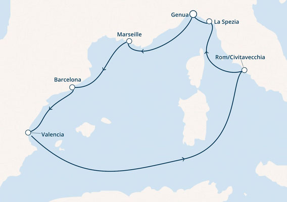 Mittelmeer ab Genua |©Costa Kreuzfahrten