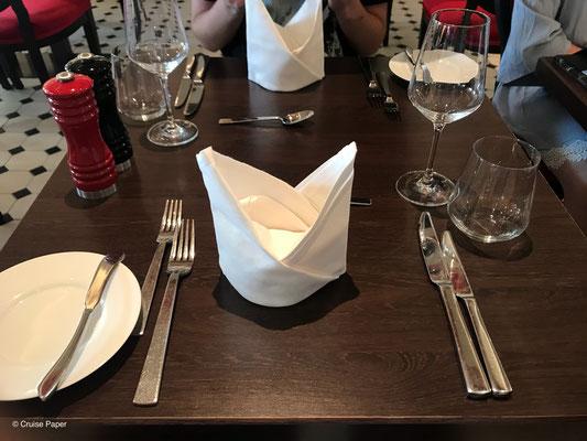 Abendessen im French Kiss auf AIDAperla