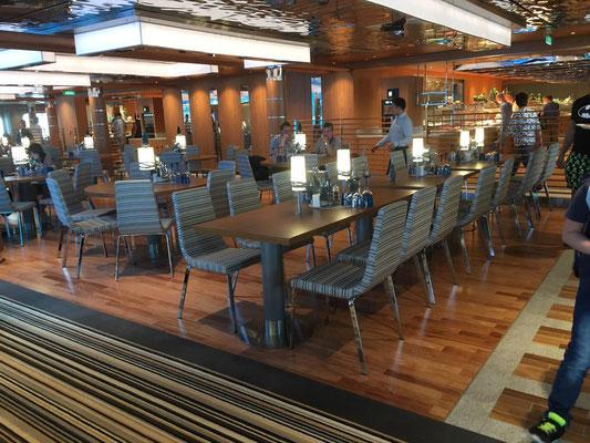 AIDAnova Yachtclub Restaurant Sitz- & Essbereich |© Timo Köhler