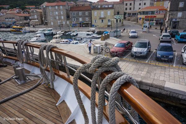 Anlegen in Korčula