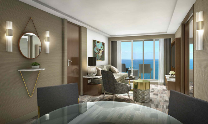 Norwegian Spirit -Suite (Rendering) ©Norwegian Cruise Line