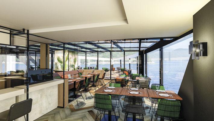 Restaurant ,,The Garden'' & Veranda auf der nickoSPIRIT | ©nicko cruises Schiffsreisen GmbH