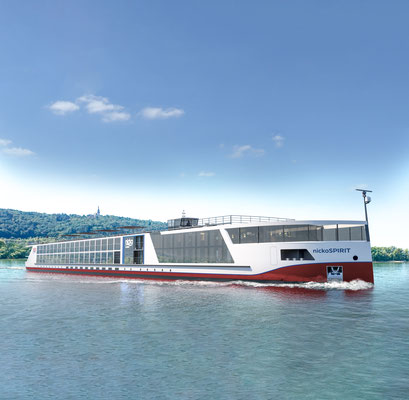 Der Rhein-Neubau von nicko cruises - die nickoSPIRIT |©nicko cruises Schiffsreisen GmbH