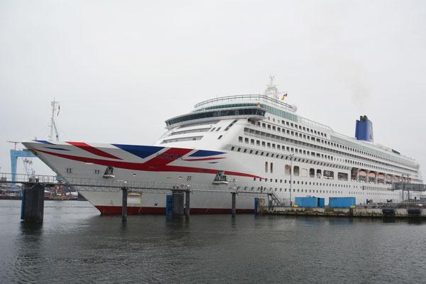 Die Aurora an ihrem Liegeplatz in Kiel // © Port of Kiel