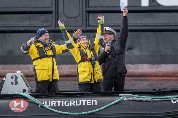 Taufe der MS Roald Amundsen von Hurtigruten