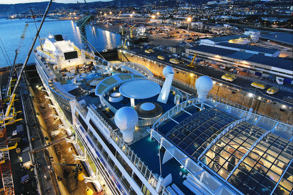 AIDAsol im Baudock |© AIDA Cruises
