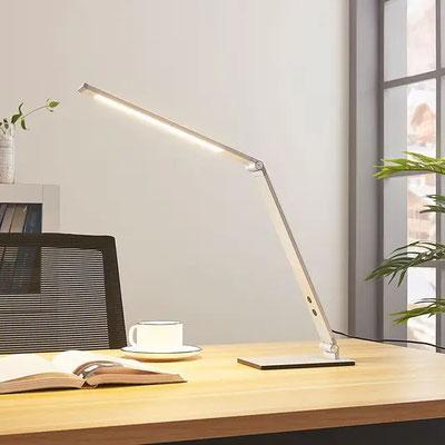 Alu-LED-Schreibtischlampe Nicano mit Dimmer  (lampenwelt.ch)