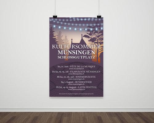 Plakat Gemeindeverwaltung Münsingen