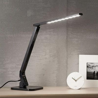 Schwarze LED-Schreibtischleuchte Eleni (lampenwelt.ch)