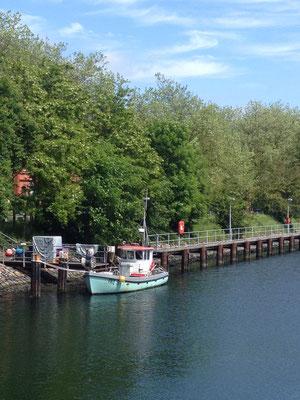 Nord-Ostsee-Kanal nahe der Schleuse Holtenau